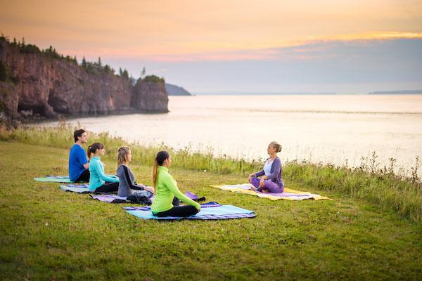 Sunrise yoga and sea kayaking package nova scotia